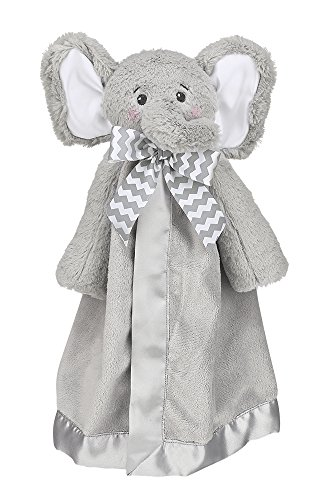 Bearington Baby Lil Spout Snuggler Gray Elephant Plush Stuffed