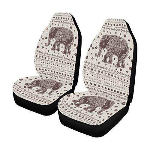 Interestprint Beautiful Elephant Animal Car Seat Cover